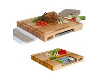 14 x 15-in. Newton Prep Master Cutting Board with Juice Groove and Pan by John Boos & Co