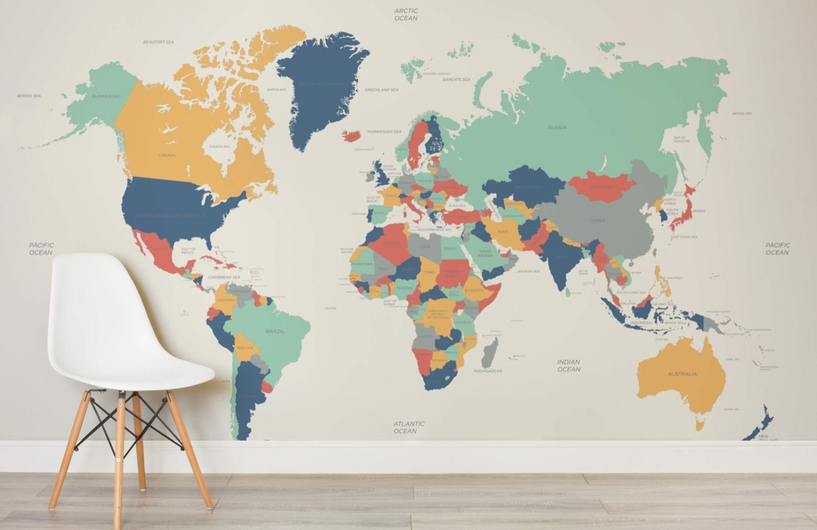 Globetrotter kids map mural muralswallpaper kids office globetrotter kids map mural custom made to suit your wall size by the uks for murals custom design service and express delivery available gumiabroncs Gallery
