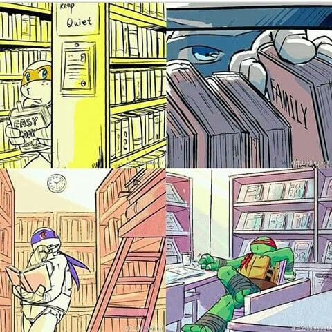 The Turtles in the libary.  You have no idea how happy this makes me...