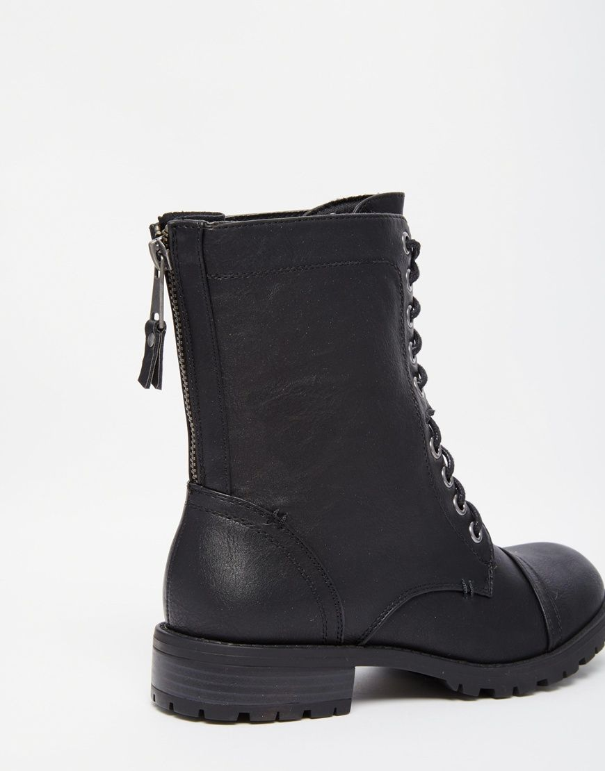 Image 3 of Call It Spring Aliradda Black Flat Worker Boots