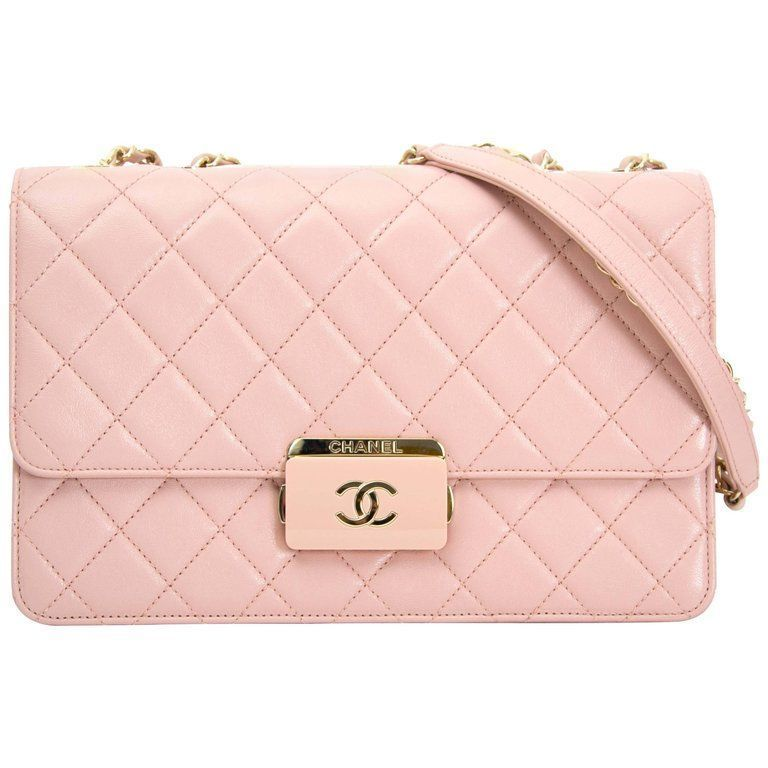 b96e2c022511 Chanel Pink Sheepskin Flap Bag   From a collection of rare vintage shoulder  bags at https