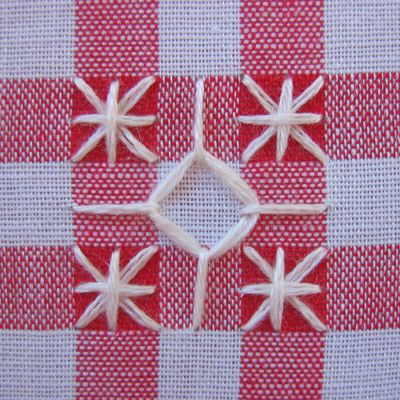 Stitch School Chicken Scratch Gingham And Embroidery