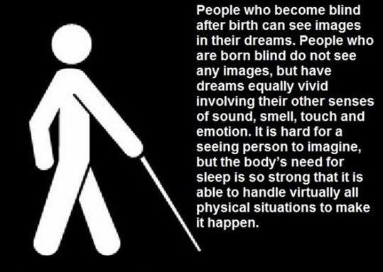 blind people   Blind people dream
