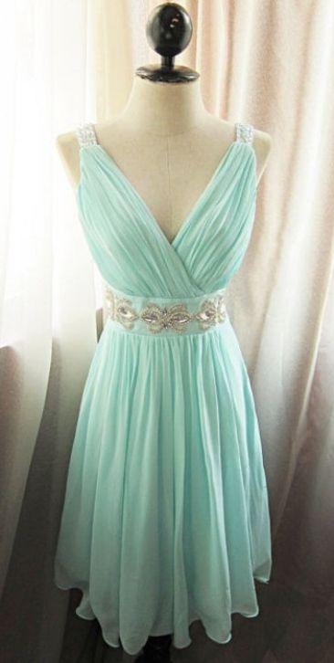 Beaded/Beading Homecoming Dresses, Mint A-line/Princess Homecoming ...