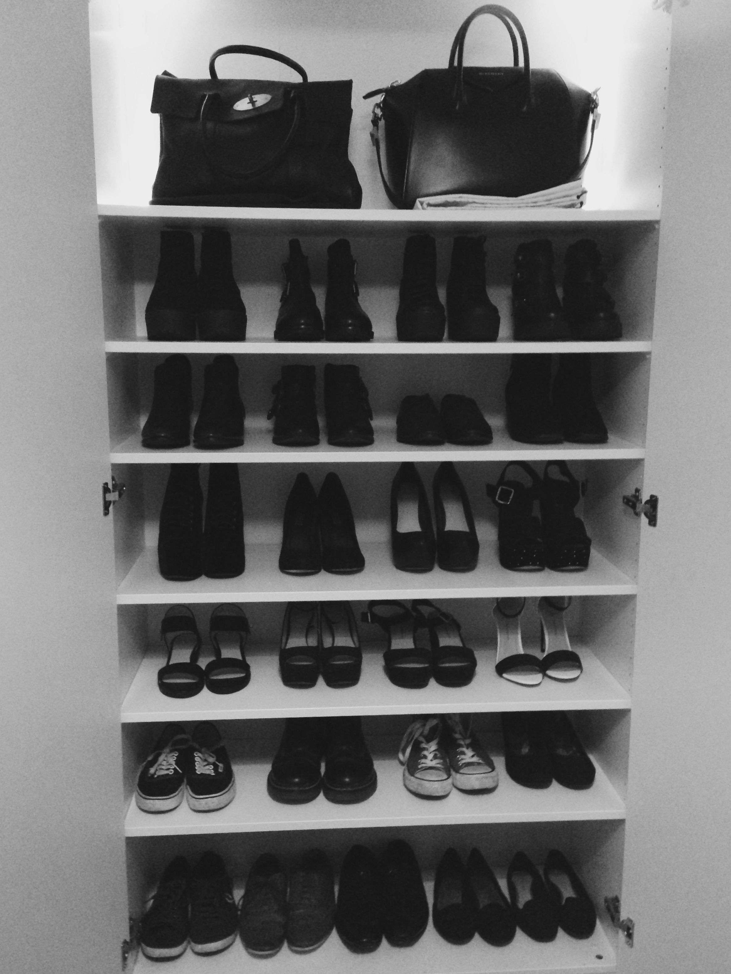 f45ab8a902e How i store my favourite shoes and bags- Ikea Pax wardrobe in white ...