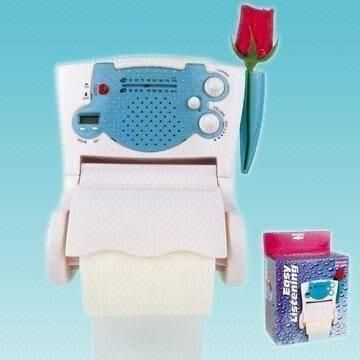 Innovative Product: A novelty radio for easy listening in the toilet? Check out this radio-cum-tissue holder: http://www.globalsources.com/gsol/I/Novelty-radio/p/sm/1002365356.htm. See other interesting #novelty #radios at www.globalsources.com/gsol/I/Novelty-radio-suppliers/s/2000000003844/3000000209556/12300.htm.