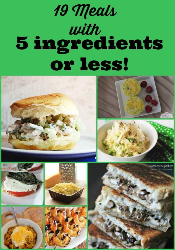 Meal planning and prep will be a lot easier! I'm sharing 19 - Five Ingredients or Less Recipes! Enjoy delicious meals, make it easy on yourself. More is less :)