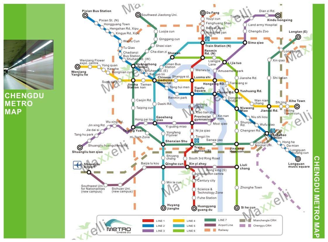 Chengdu Subway Map New Station.Chengdu Metro China Teaching Chengdu Subway Map China
