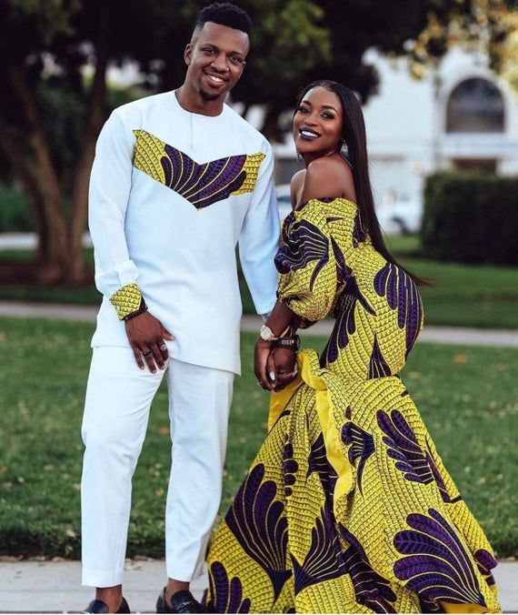 African Clothing/ Matching Outfit/ Couples Matching Outfit