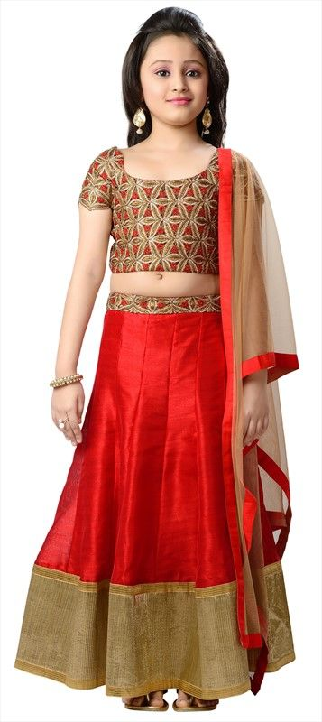 200789 Red And Maroon Color Family Kids Lehenga Kids Dresses Online Kids Designer Dresses Kids Lehenga