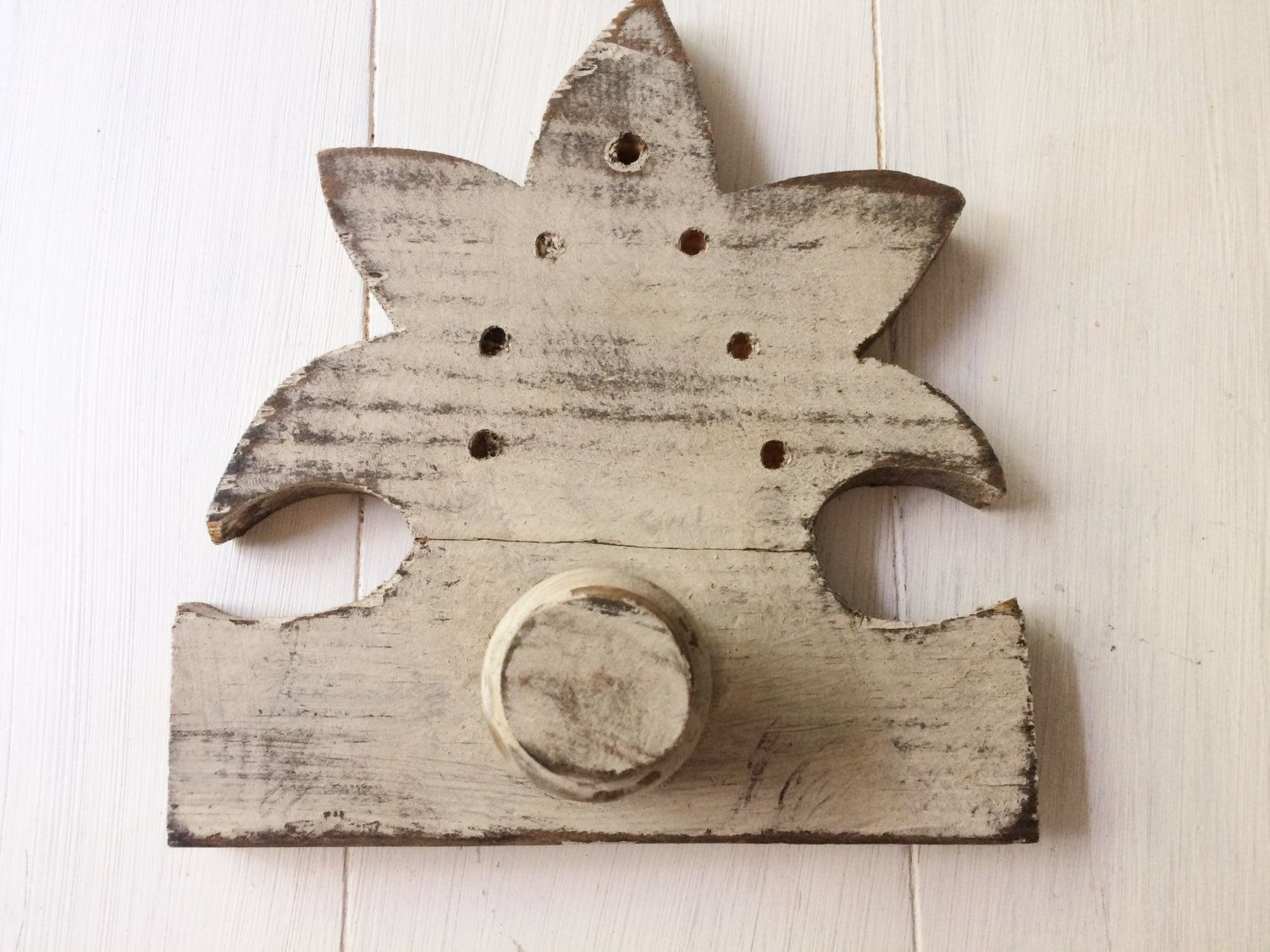 Large architectural wall hook wooden architectural peg