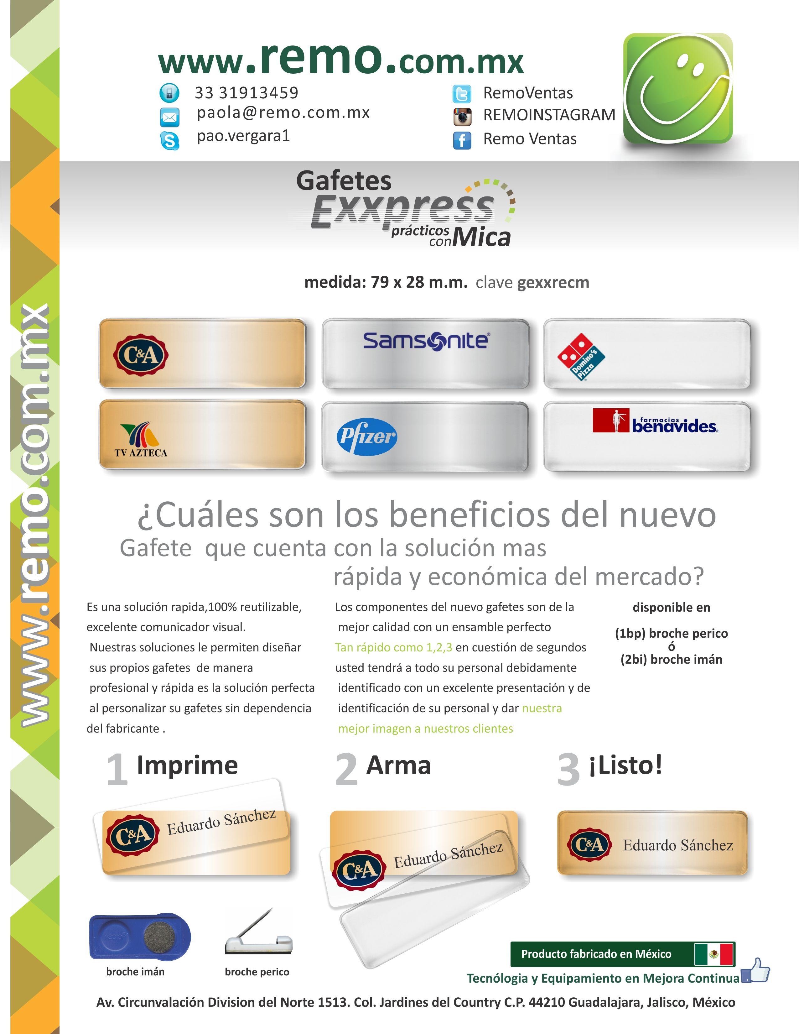www.remo.com.mx | Gafetes de identificación | Pinterest