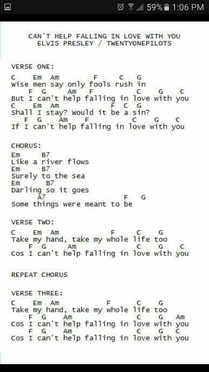 Cant Help Falling In Love Ukulele Pinterest Ukulele Songs