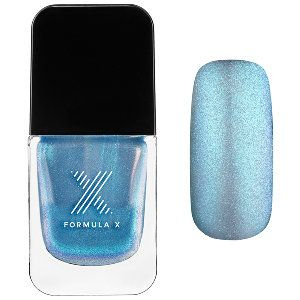 Formula X Liquid Crystals in Moon Glow - iridescent blue micro-glitter in sheer baby blue #sephora