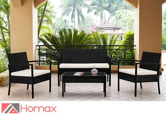 create an inviting getaway right outside your door with this conversation patio set