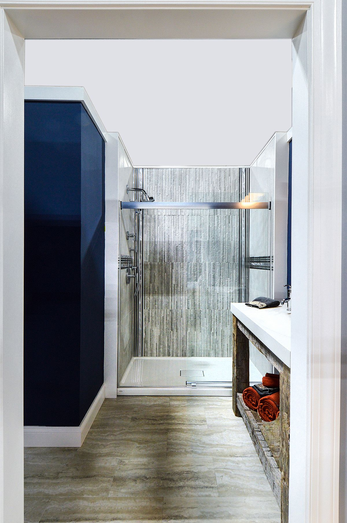 Mix Of Contemporary Rustic For A Beautiful Bathroom Design