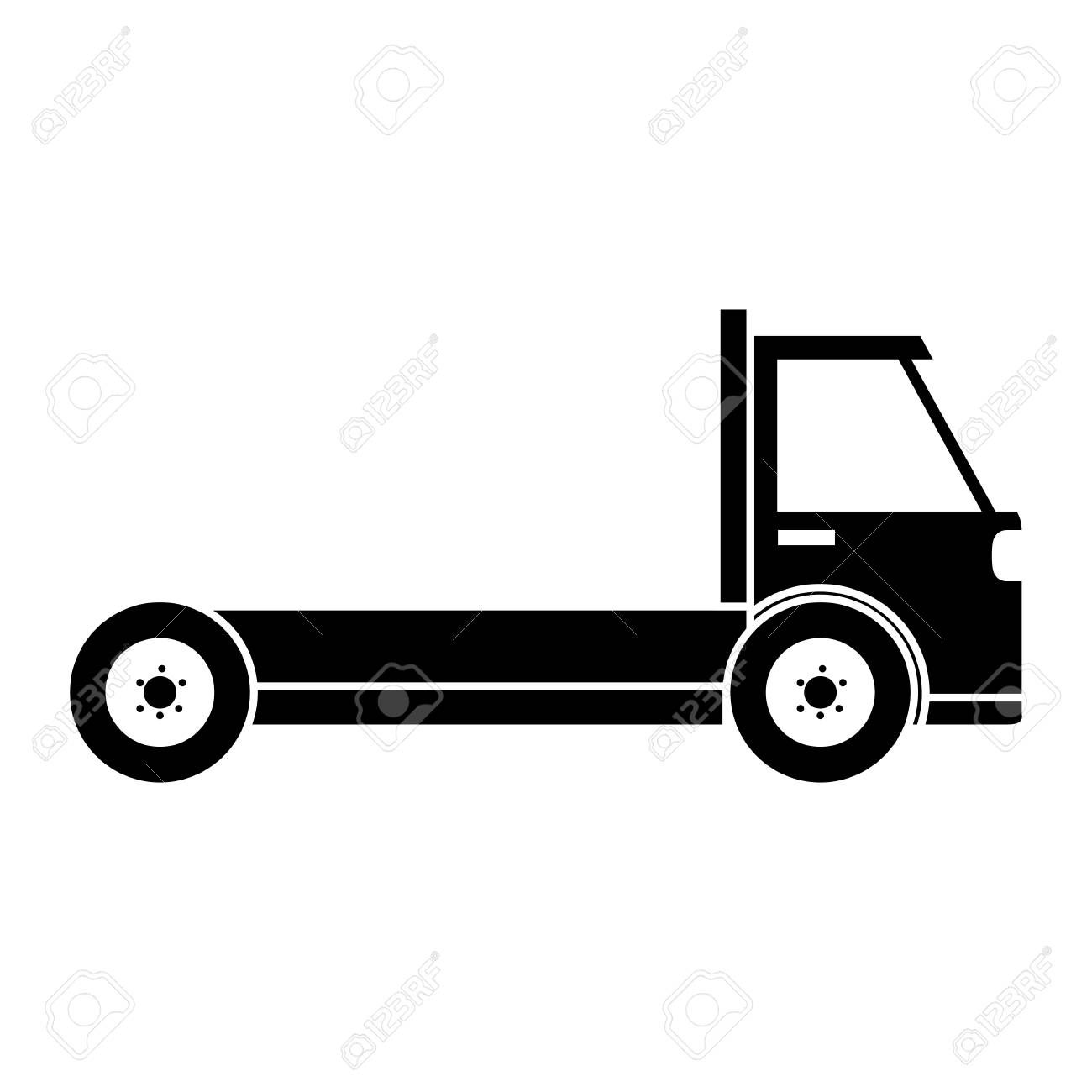 Delivery Truck Vehicle Icon Vector Illustration Design