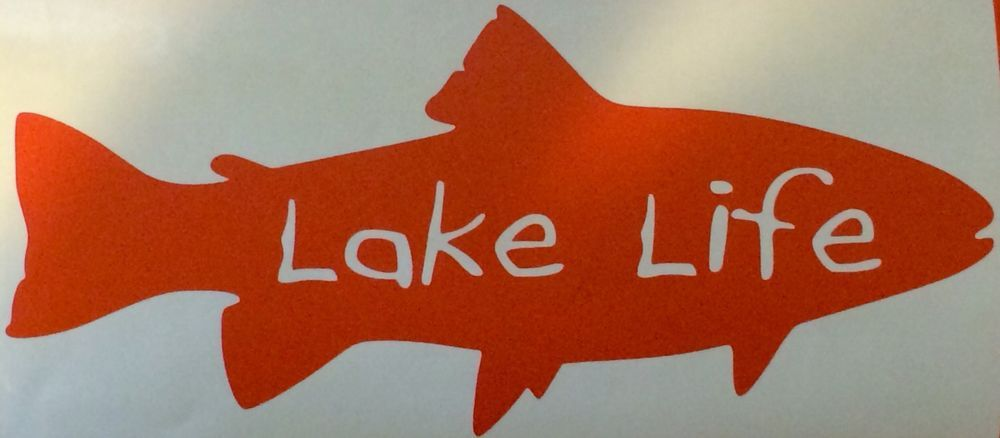 Lake Life Vinyl Decal//Sticker Bass,Trout Window Decal,Fishing,Kayak,Boat,Fish