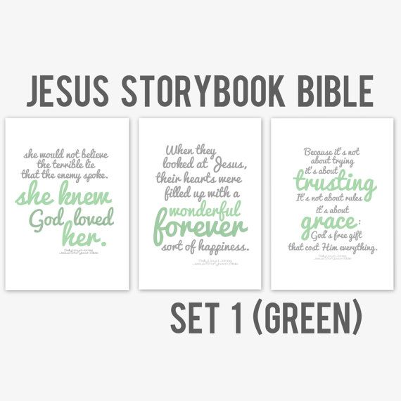Jesus Storybook Bible Quotations Set 1 crafty Pinterest