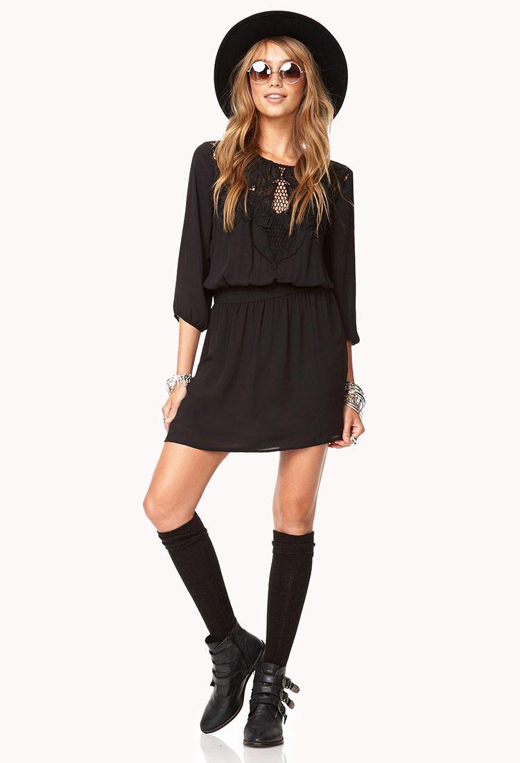 Romantic Georgette Dress | FOREVER21 - 2078389503