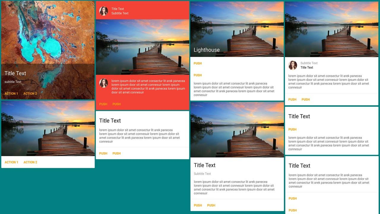 A Material Design Card Component Customizable And Versatile