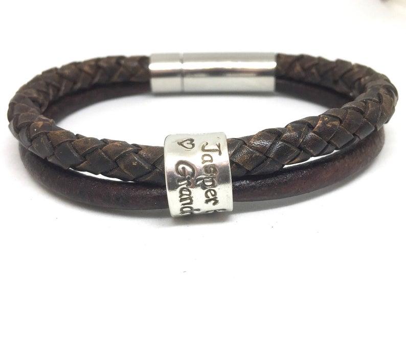 Coordinates bracelet custom bracelet Mens Xmas Gift,Leather Bracelet Christmas Gift Mens Personalised Bracelet leather wrap Christmas