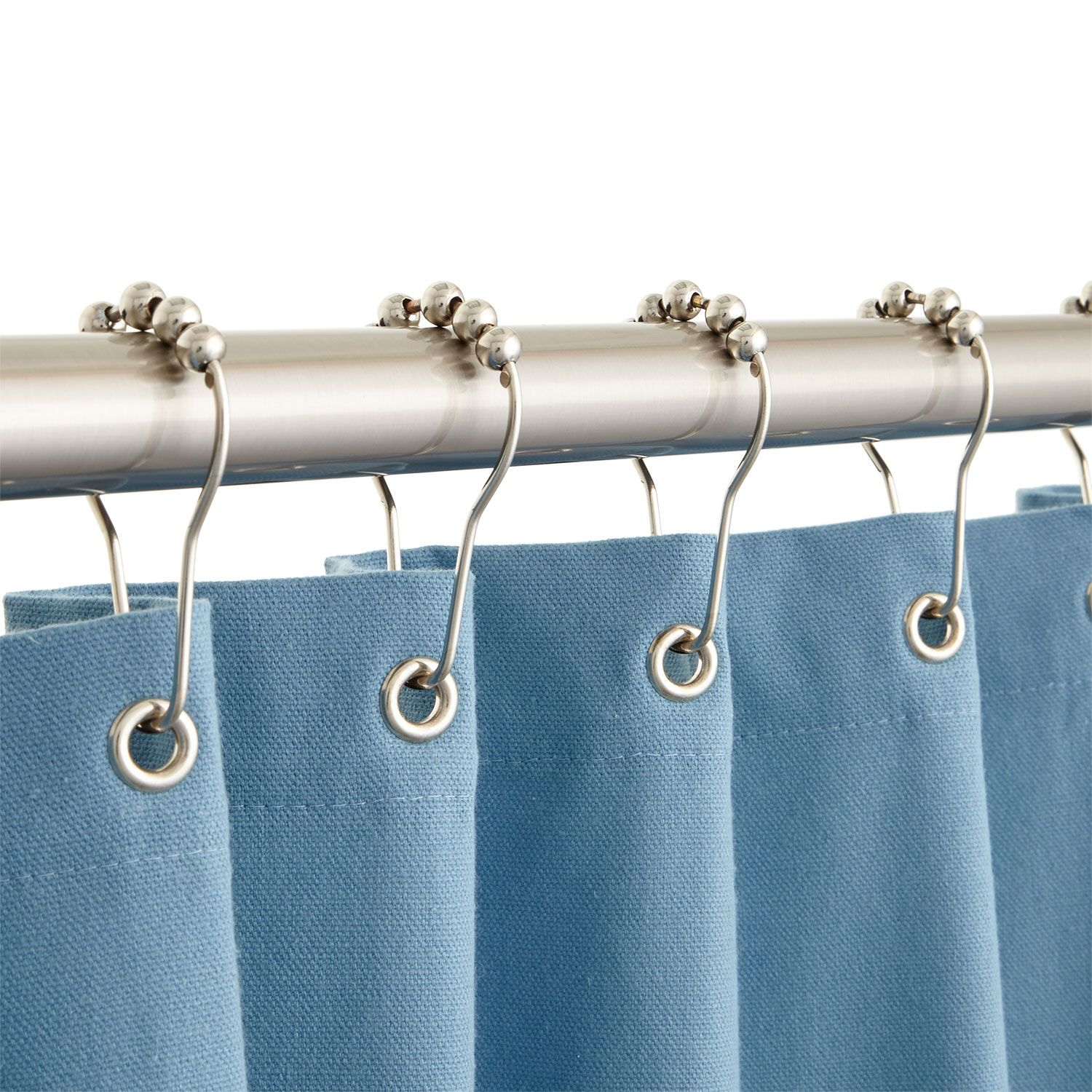 Roller Ball Shower Curtain Rings In 36 Rings In Oil Rubbed Bronze