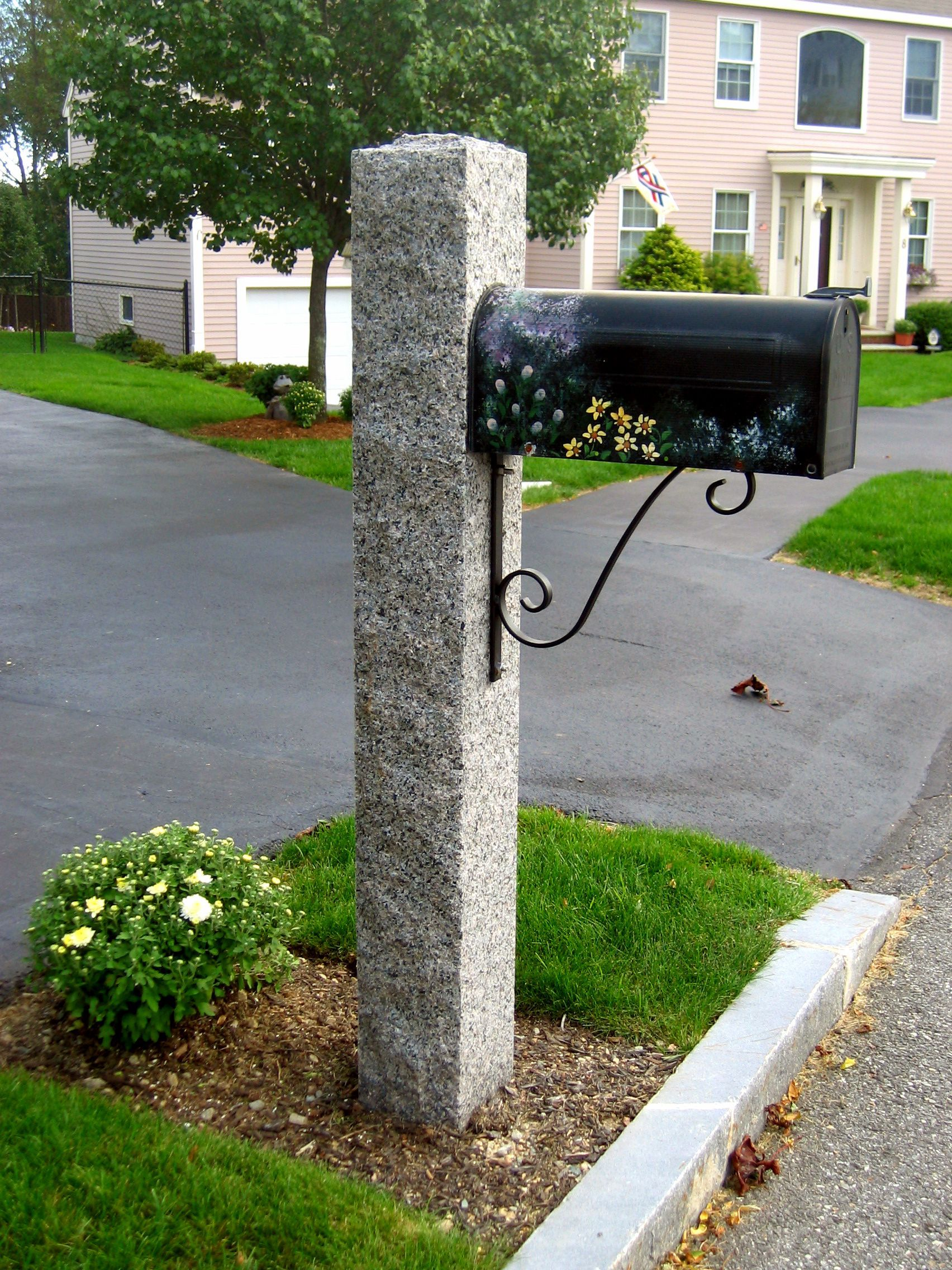 Pin On Granite Lamp Posts Mailbox Posts And Fence Posts