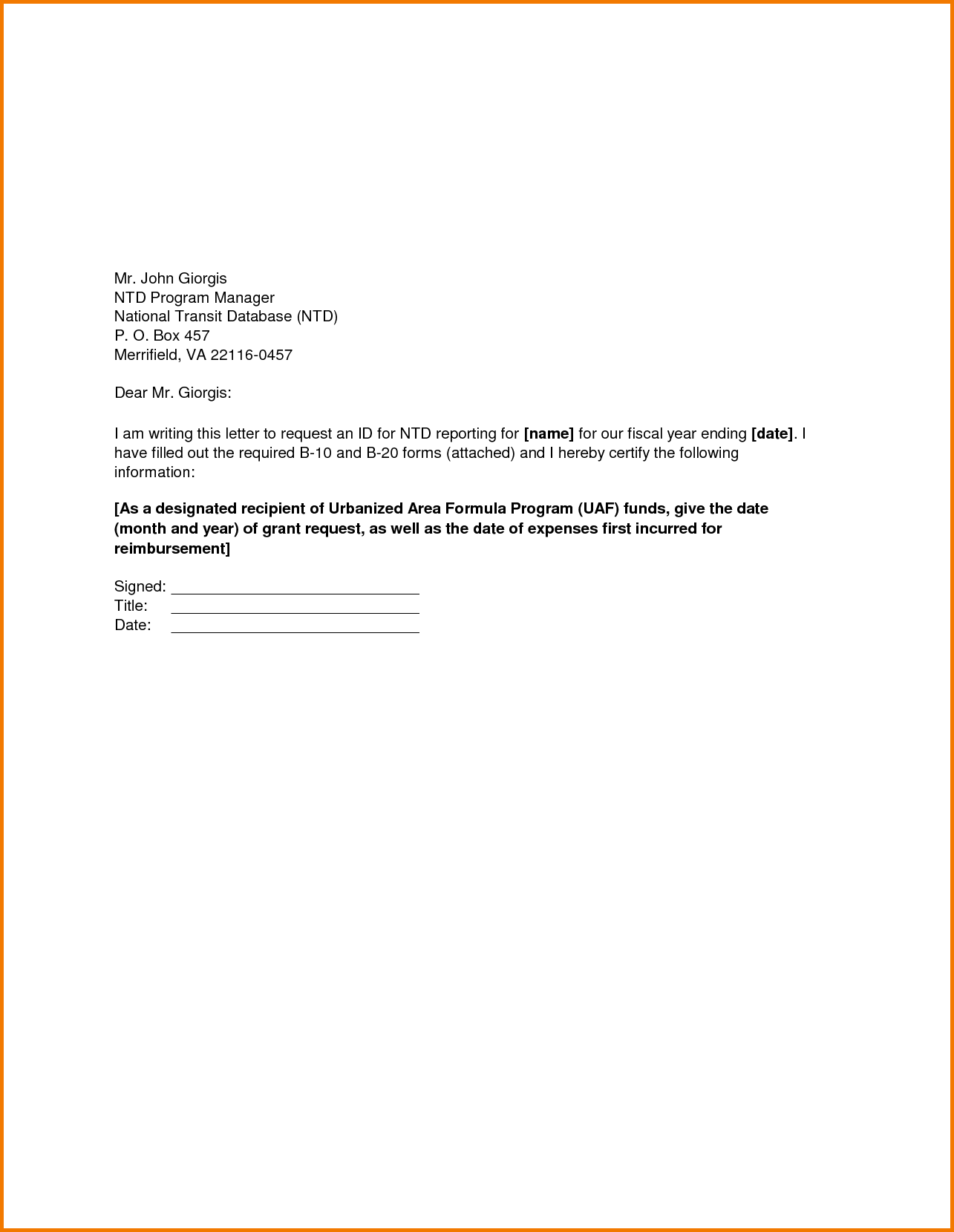 Formal Letter Format Sample Request Financial Statement Form