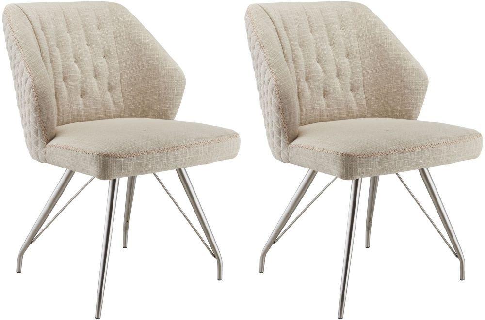 Shankar Natural Contemporary Comfort Dining Chair Pair Dining