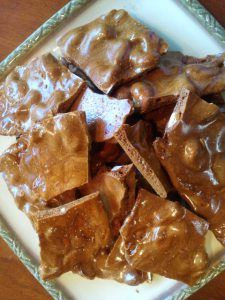 Microwave Palm Sugar Cashew Brittle |
