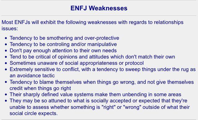 Weaknesses Facts  ENFJ Enfj personality, Enfj, Enfp