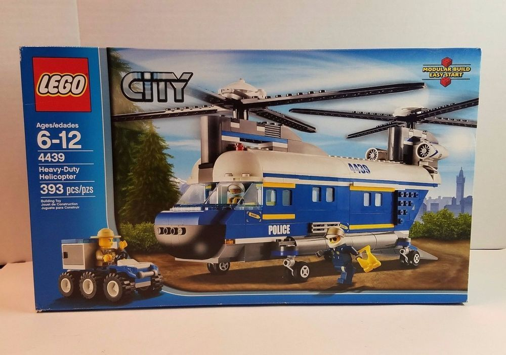 Lego City 4439 Heavy Duty Helicopter Police Rescue Minifig Mini