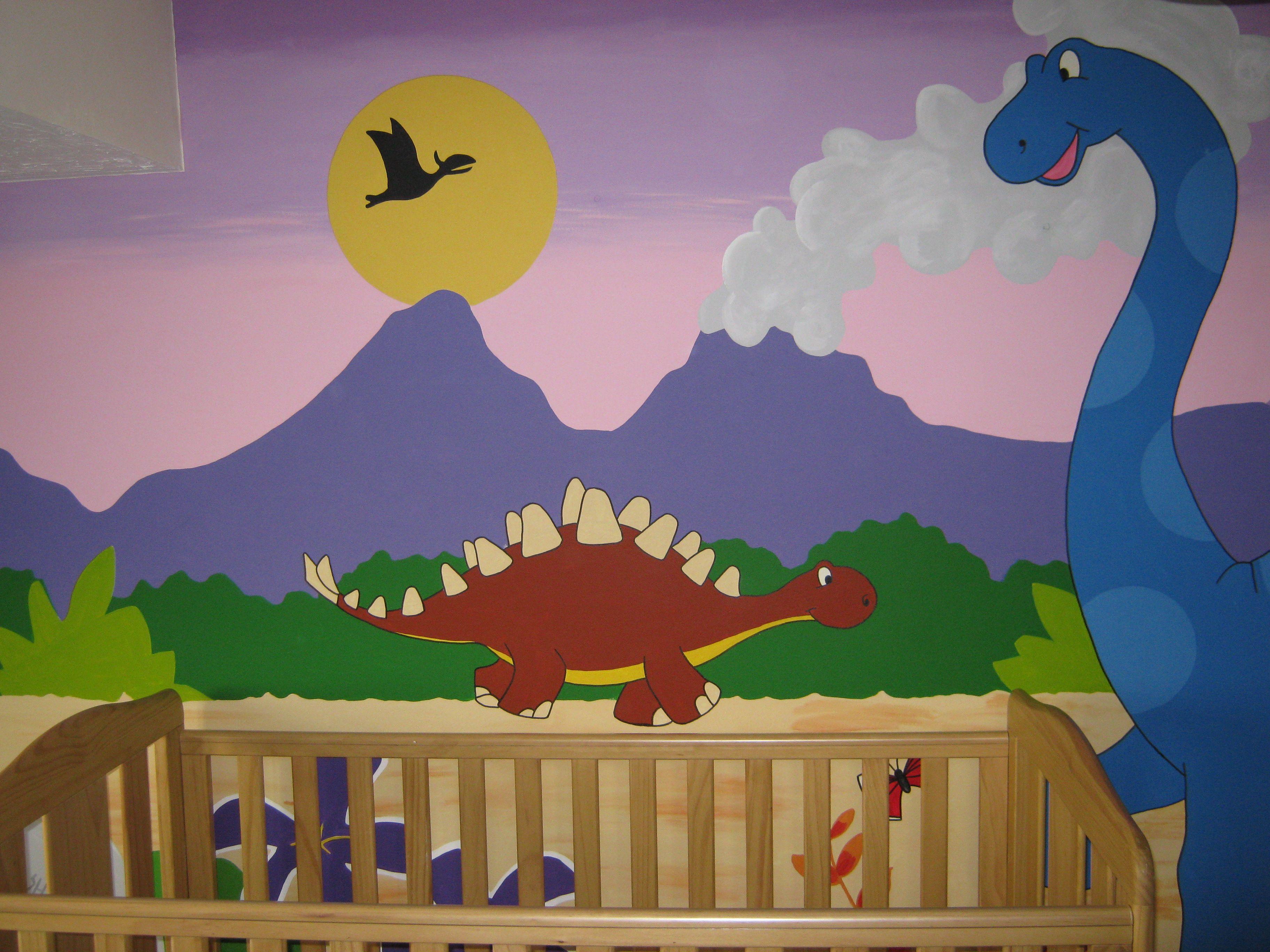 Dinosaur Mural By Me Www Facebook Com Jjmurals Co Uk In