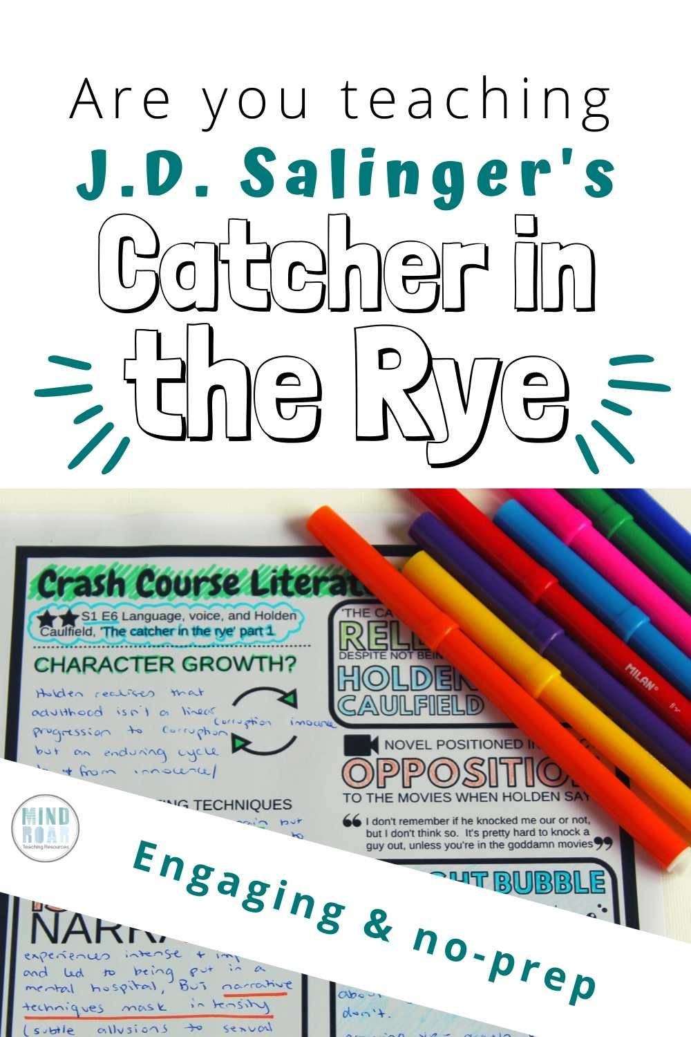 Struggling To Engage Your Students In J D Salinger S Catcher In The Rye Use Our Engaging No Prep Vi In 2020 Catcher In The Rye Crash Course Literature Crash Course