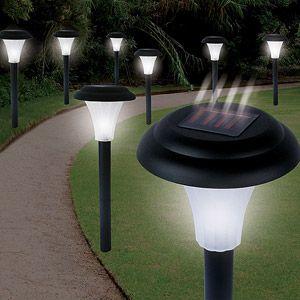 Pure Garden Solar Powered Black Accent Lights Set Of 8 Walmart Com Solar Lights Garden Solar Powered Garden Lights Outdoor Solar Lights