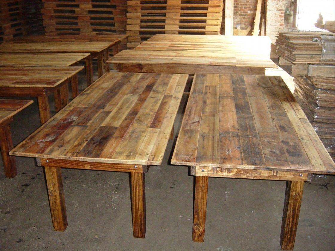Rustic Farmhouse Dining Room Table Sets: Cheap Unpolished Vintage Farm Table For Sale With Standard