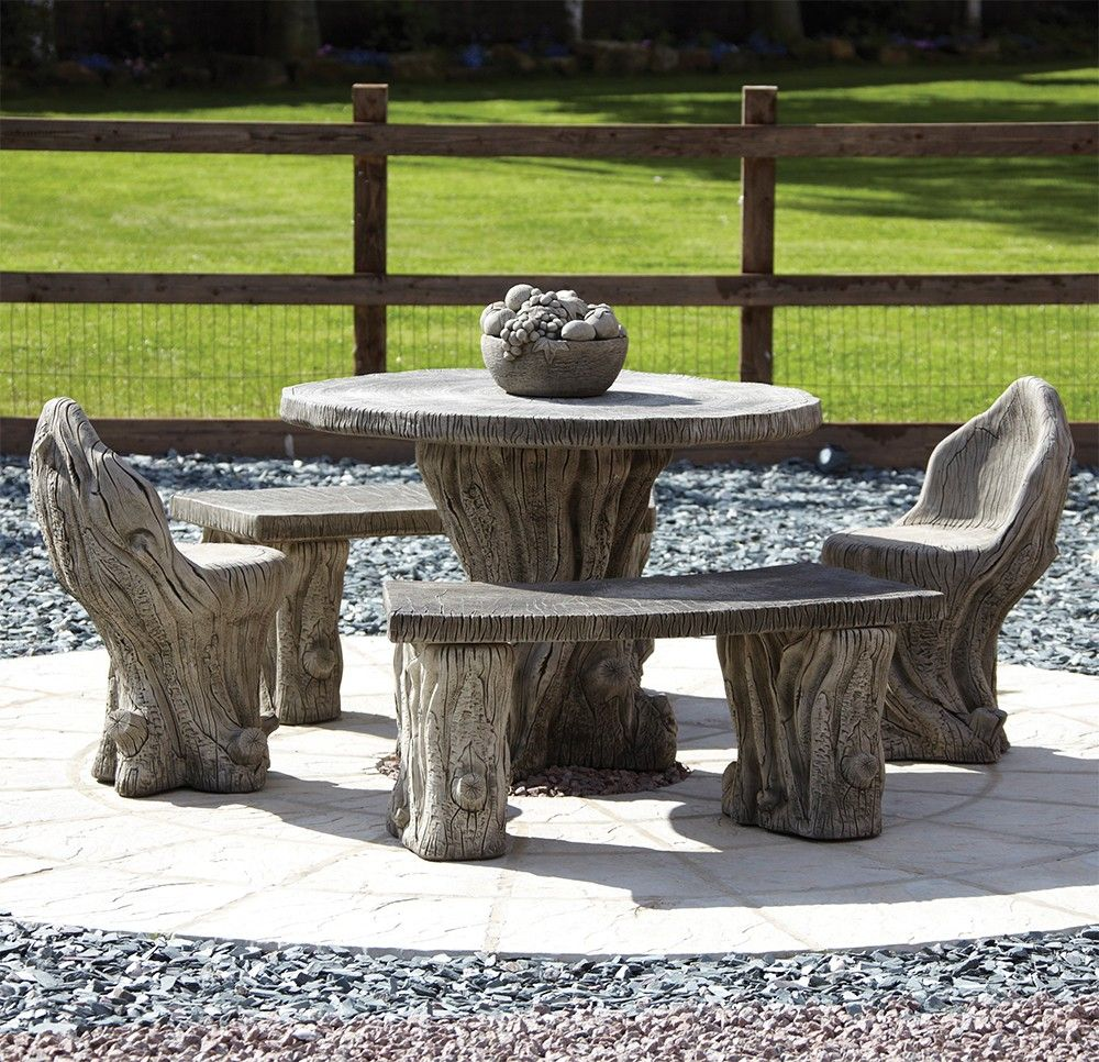 Marvelous Garden Furniture   Woodlands Stone Benches U0026 Table Patio Set. Buy Now At  Http: