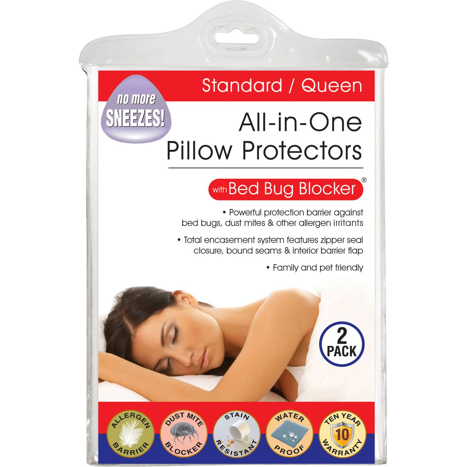 Luxury Cotton Rich Bed Bug Blocker Pillow Protector