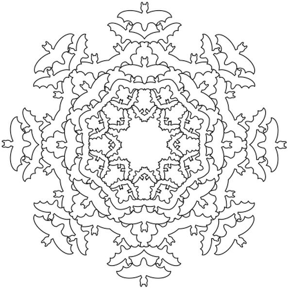 Coloriage De Mandala En Ligne Gratuit.Coloriage Halloween Mandala En Ligne Gratuit A Imprimer