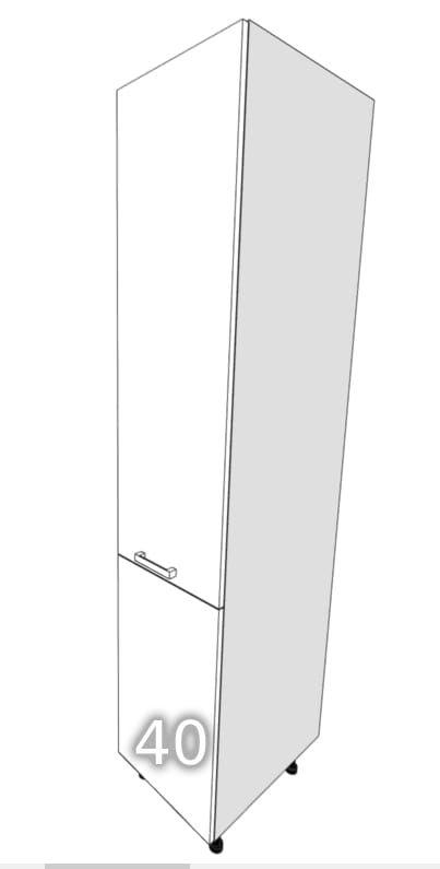 GLOSS One-door standing wardrobe cargo 40 (Front color: Cr …