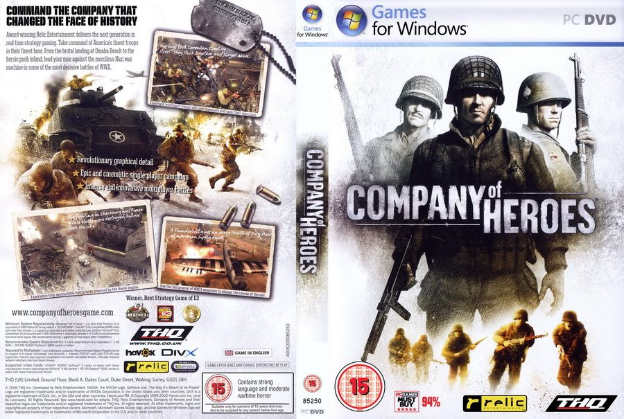 Company Of Heroes Genre Action Rts Strategy Dvd 1 Dvd Price Rp 5 000 Minimum System Requirements Os Windows Xp Or Vista Game Pc Malang Dvd