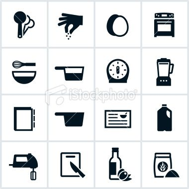 Icons Associated With Recipes In Cooking All White Strokes Shapes Recipe Icon Food Icons Icon