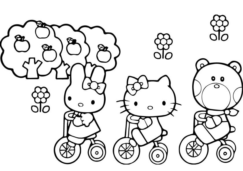 printable coloring pages hello kitty friendship | Get the best printable hello kitty coloring pages, 40 free ...