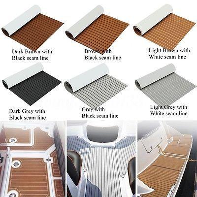 Deluxe Eva Foam Boat Marine Flooring Mat Faux Teak Decking Yacht Car Sheet Pad Boat Flooring Ideas Boat Decor Boat Upgrades