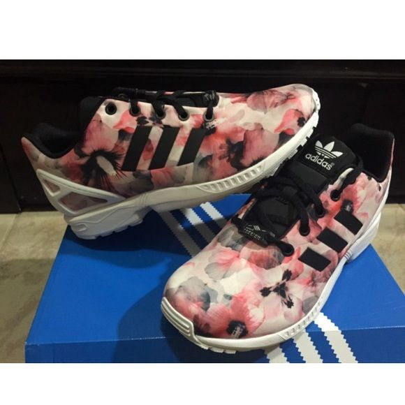newest 0d598 a3523 Adidas flux pink rose white black multi color Adidas flux pink rose white  black multi color prism Adidas Shoes Sneakers