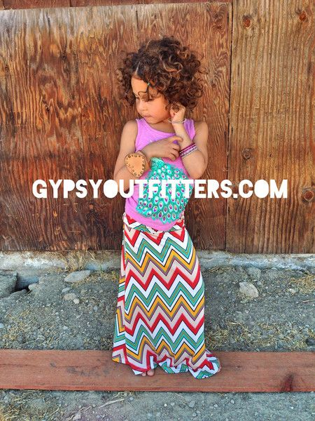 3caf27eed35 Little Girls Chevron Maxi Skirt - children s maxi skirt