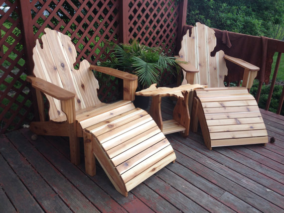 Deluxe Patio Set Michigan Adirondack Chairs By