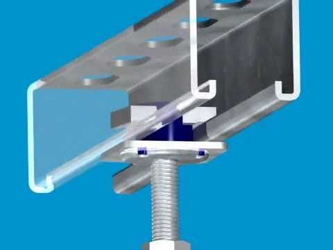 Unistrut Kwik Washer Overhead Installation With One Hand Ceiling Storage Tool Rack Washer