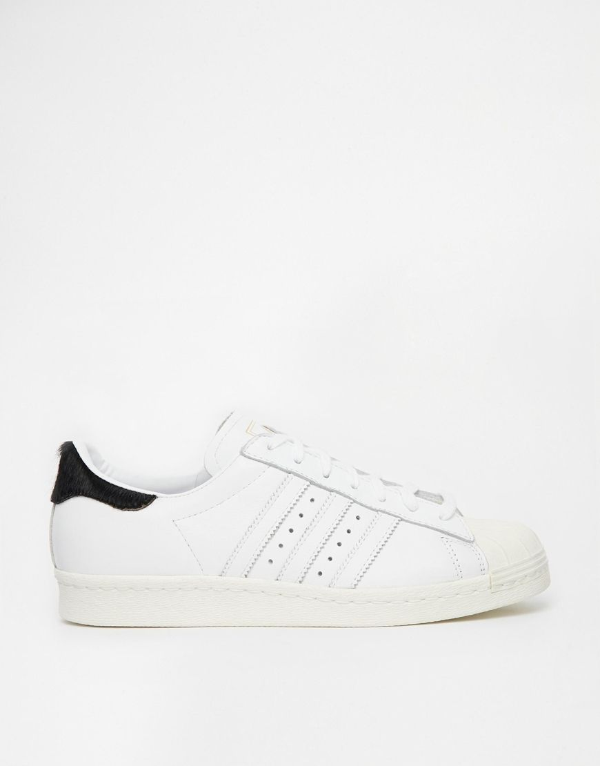 fb23e2b7c025 Image 1 of Adidas Originals Superstar 80s White Sneakers